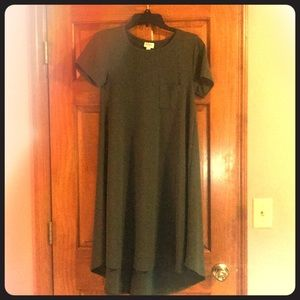 LuLaRoe Solid Hunter Carly Dress